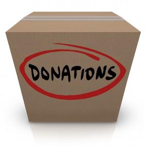 Donations Cardboard Box Food Charity Drive