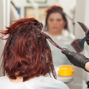 Hairdresser Dyeing Hair